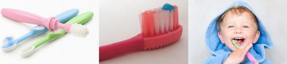 Escovas de dentes infantis | Criança a proceder à escovagem dos dentes