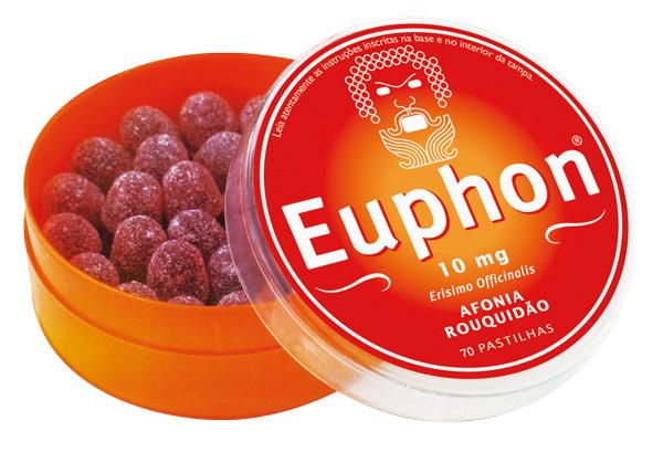 EUPHON® | Pastilhas para afonia, rouquidão, tosse seca